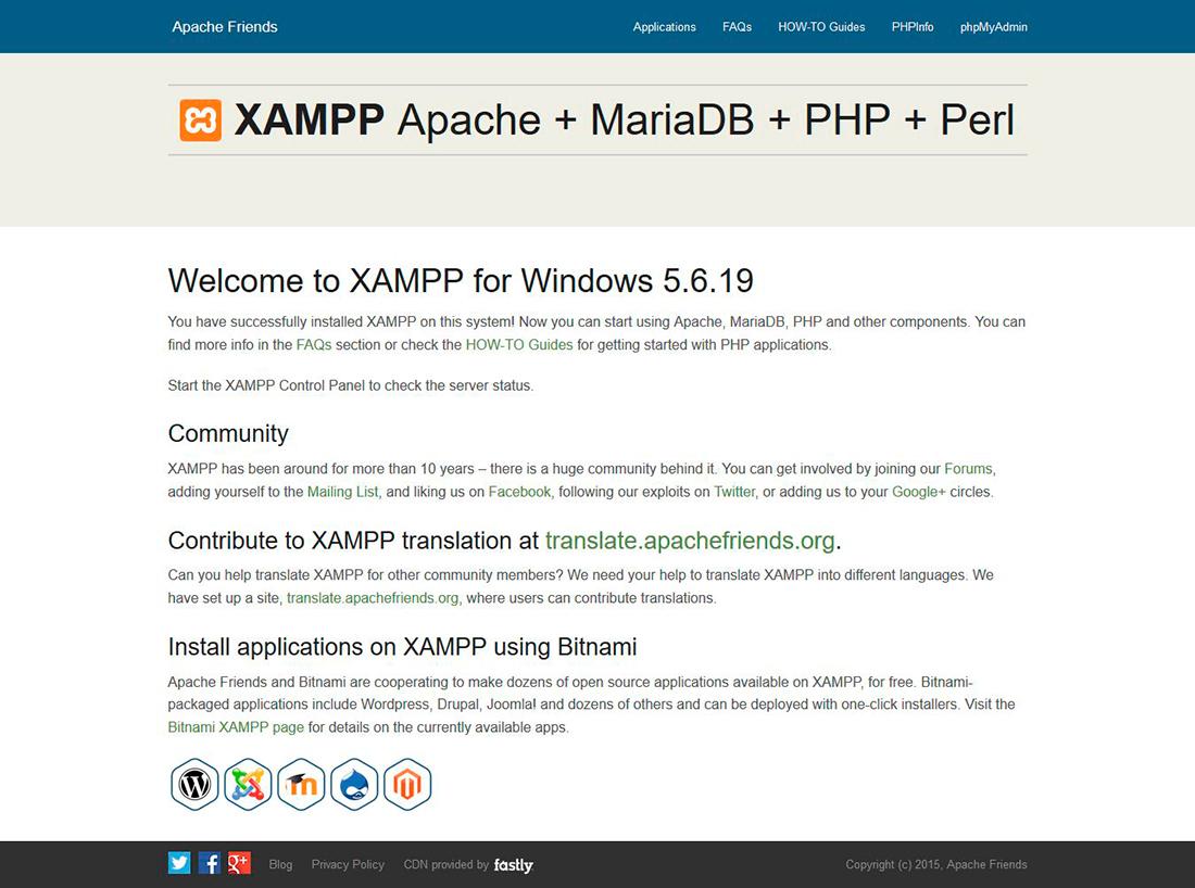 tutorial de php - dashboard xampp