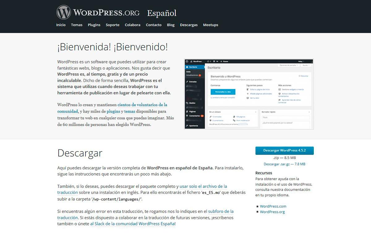 descargar-wordpress-web
