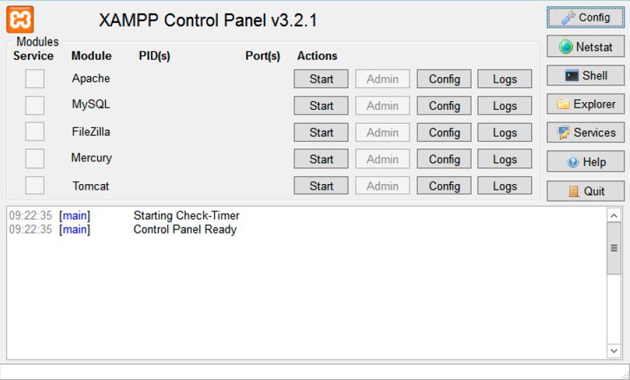tutorial de php - panel XAMPP