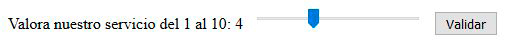 input range html5 valor