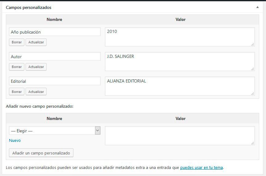 campos personalizados wordpress - 1