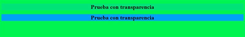 transparencia y opacidad RGBA