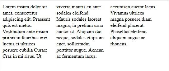 columnas con css3