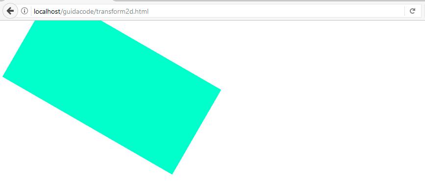 Transformaciones 2D rotate ejemplo