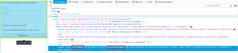 validar formularios con angularjs - Ejemplo de ng-invalid