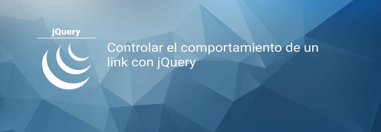 Controlar el comportamiento de un link con jQuery