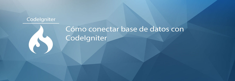 Cómo conectar base de datos con CodeIgniter